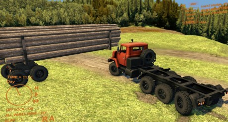 Kraz-7140-with-Log-Trailer