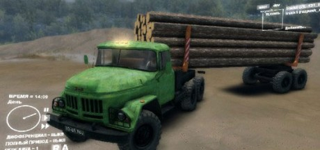 ZIL-131-Logging-Truck-with-Trailer