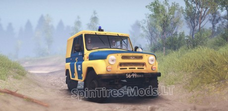UAZ-B-Police-Car