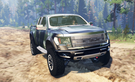 ford f 150 svt raptor super cab spintires mudrunner mods. Black Bedroom Furniture Sets. Home Design Ideas